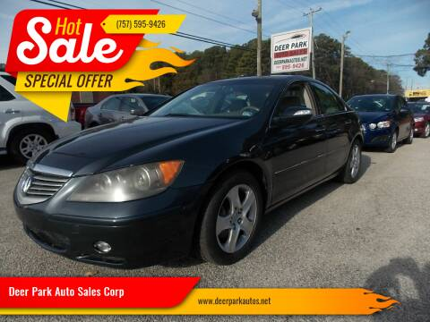 2006 Acura RL for sale at Deer Park Auto Sales Corp in Newport News VA