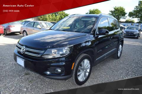2014 Volkswagen Tiguan for sale at American Auto Center in Austin TX