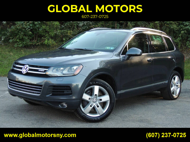 2013 Volkswagen Touareg for sale at GLOBAL MOTORS in Binghamton NY