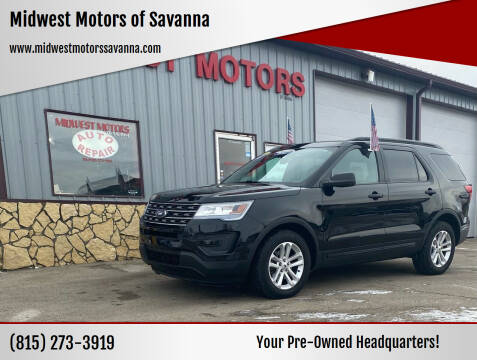 2017 Ford Explorer for sale at Midwest Motors of Savanna in Savanna IL