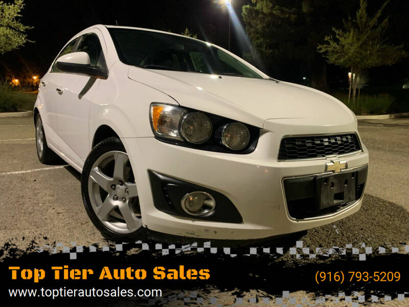 2014 Chevrolet Sonic for sale at Top Tier Auto Sales in Sacramento CA