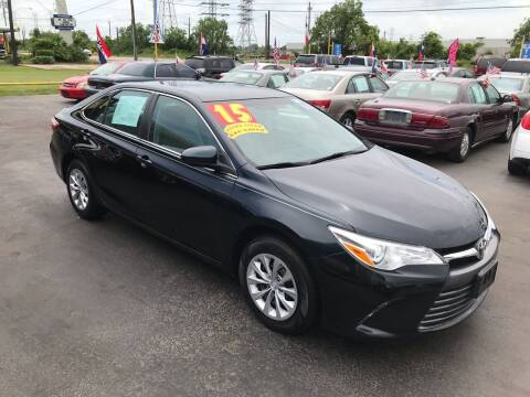 2015 Toyota Camry for sale at Texas 1 Auto Finance in Kemah TX