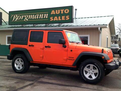 2013 Jeep Wrangler Unlimited for sale at Borgmann Auto Sales in Norfolk NE