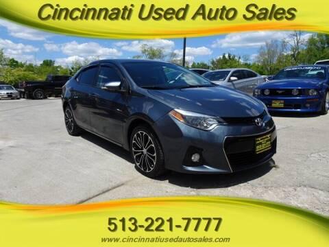 2016 Toyota Corolla for sale at Cincinnati Used Auto Sales in Cincinnati OH