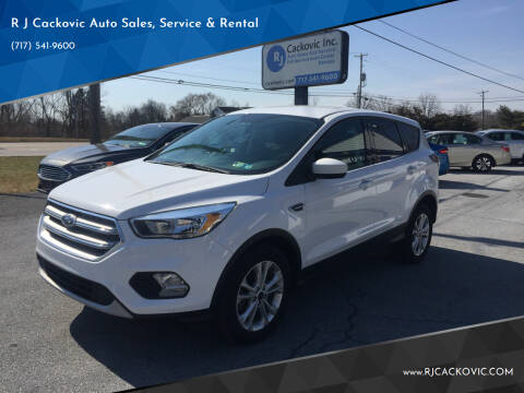 2017 Ford Escape for sale at R J Cackovic Auto Sales, Service & Rental in Harrisburg PA