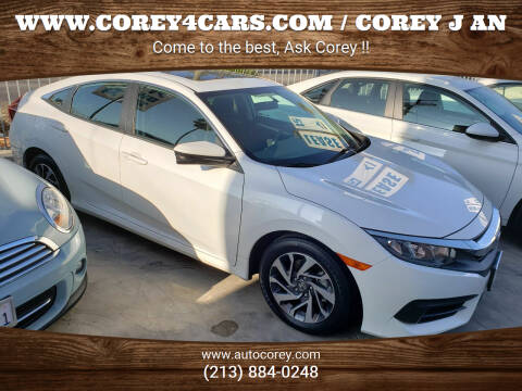 2018 Honda Civic for sale at WWW.COREY4CARS.COM / COREY J AN in Los Angeles CA