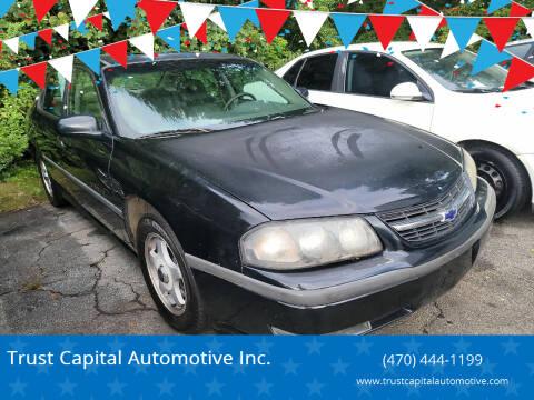 2002 Chevrolet Impala for sale at Trust Capital Automotive Inc. in Covington GA