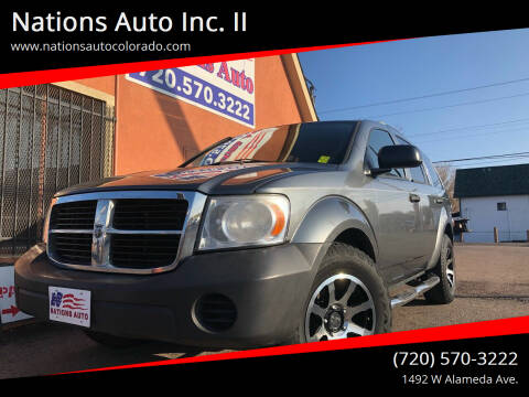 2008 Dodge Durango for sale at Nations Auto Inc. II in Denver CO
