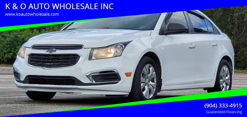 2015 Chevrolet Cruze for sale at K & O AUTO WHOLESALE INC in Jacksonville FL