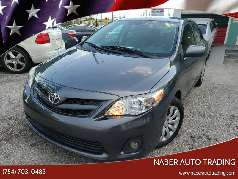 2012 Toyota Corolla for sale at Naber Auto Trading in Hollywood FL