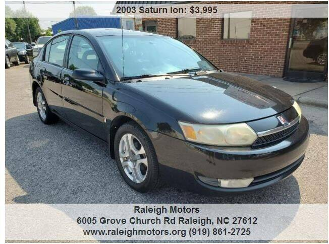 2003 Saturn Ion for sale at Raleigh Motors in Raleigh NC