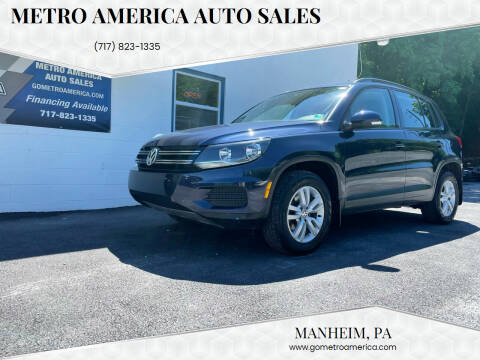 2016 Volkswagen Tiguan for sale at METRO AMERICA AUTO SALES of Manheim in Manheim PA