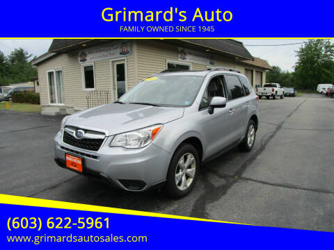 2016 Subaru Forester for sale at Grimard's Auto in Hooksett NH