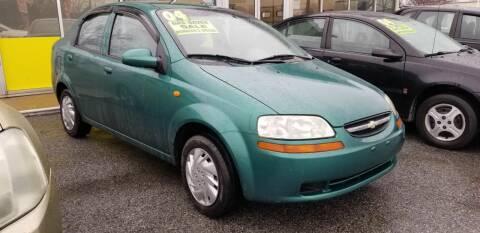 2004 Chevrolet Aveo for sale at ABC Auto Sales and Service in New Castle DE