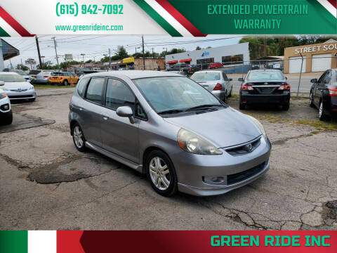 2008 Honda Fit for sale at Green Ride Inc in Nashville TN
