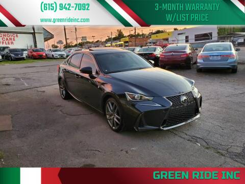 2017 Lexus IS 300 for sale at Green Ride Inc in Nashville TN