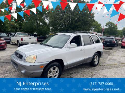 2003 Hyundai Santa Fe for sale at NJ Enterprises in Indianapolis IN