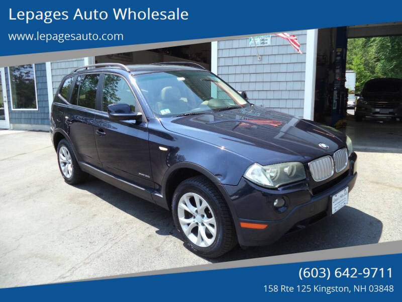 2010 BMW X3 for sale at Lepages Auto Wholesale in Kingston NH