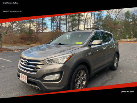 2014 Hyundai Santa Fe Sport for sale at S & D Auto Sales in Maynard MA