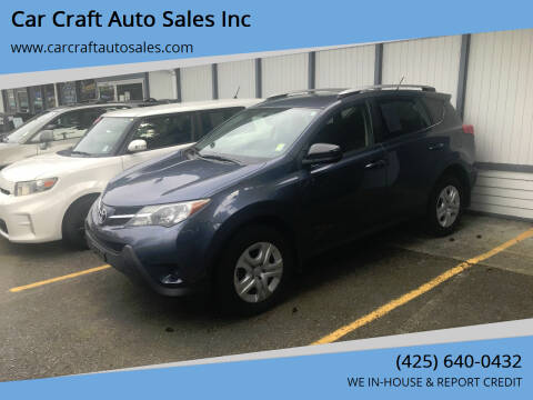 2014 Toyota RAV4 for sale at Car Craft Auto Sales Inc in Lynnwood WA