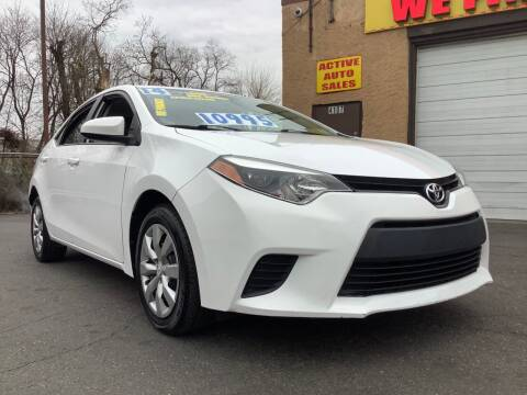 2014 Toyota Corolla for sale at Active Auto Sales Inc in Philadelphia PA
