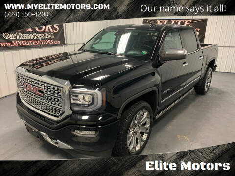 2017 GMC Sierra 1500 for sale at Elite Motors in Uniontown PA