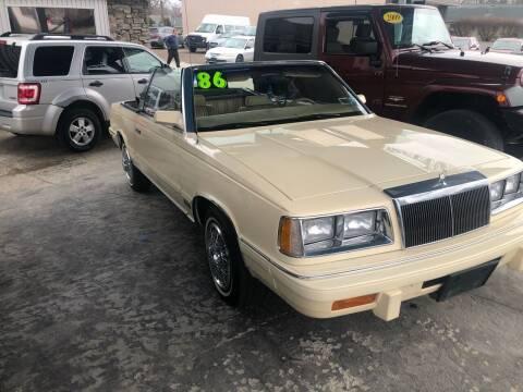 1986 Chrysler Le Baron for sale at Bizzarro's Championship Auto Row in Erie PA