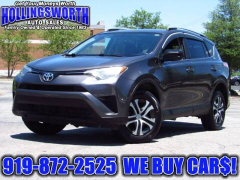 2016 Toyota RAV4 for sale at Hollingsworth Auto Sales in Raleigh NC
