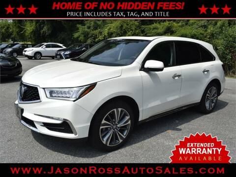 2017 Acura MDX for sale at Jason Ross Auto Sales in Burlington NC