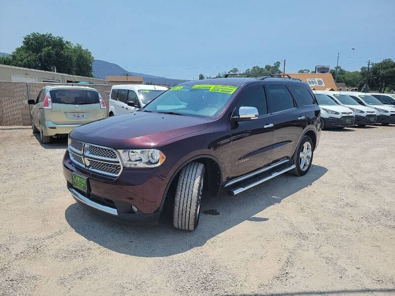 2012 Dodge Durango for sale at Canyon View Auto Sales in Cedar City UT
