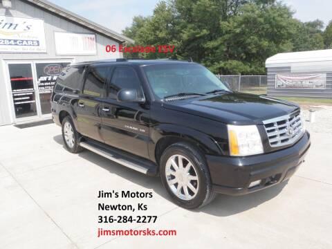 2006 Cadillac Escalade ESV for sale at Jim's Motors in Newton KS