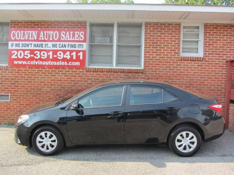 2015 Toyota Corolla for sale at Colvin Auto Sales in Tuscaloosa AL