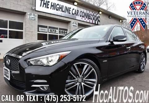 2017 Infiniti Q50 Hybrid for sale at The Highline Car Connection in Waterbury CT