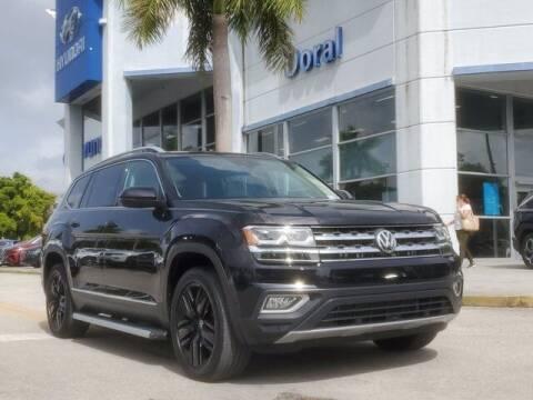 2018 Volkswagen Atlas for sale at DORAL HYUNDAI in Doral FL