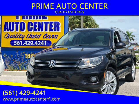 2013 Volkswagen Tiguan for sale at PRIME AUTO CENTER in Palm Springs FL