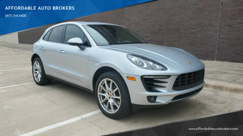 2016 Porsche Macan for sale at AFFORDABLE AUTO BROKERS in Keller TX