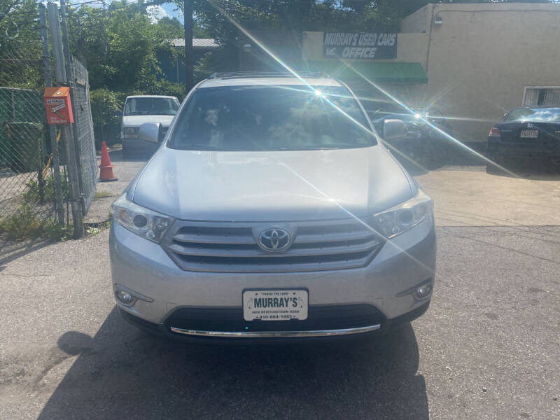 2013 Toyota Highlander for sale at Murrays Used Cars in Baltimore MD