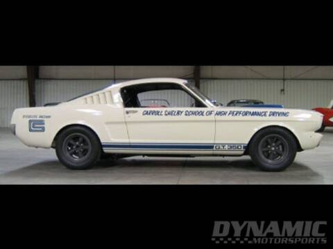 1965 Ford Shelby GT350 for sale at SW Dynamic Motorsports in Garland TX