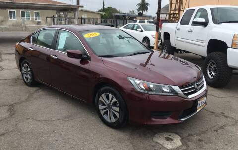 2015 Honda Accord for sale at JR'S AUTO SALES in Pacoima CA