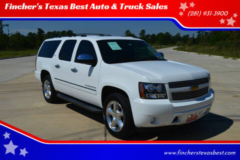 2012 Chevrolet Suburban for sale at Fincher's Texas Best Auto & Truck Sales in Tomball TX