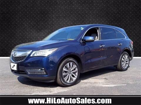 2016 Acura MDX for sale at Hi-Lo Auto Sales in Frederick MD