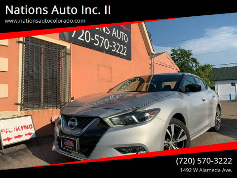 2017 Nissan Maxima for sale at Nations Auto Inc. II in Denver CO
