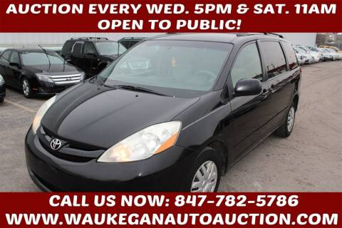 2009 Toyota Sienna for sale at Waukegan Auto Auction in Waukegan IL