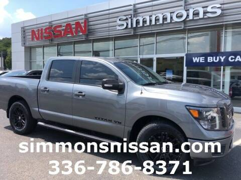 2018 Nissan Titan for sale at SIMMONS NISSAN INC in Mount Airy NC
