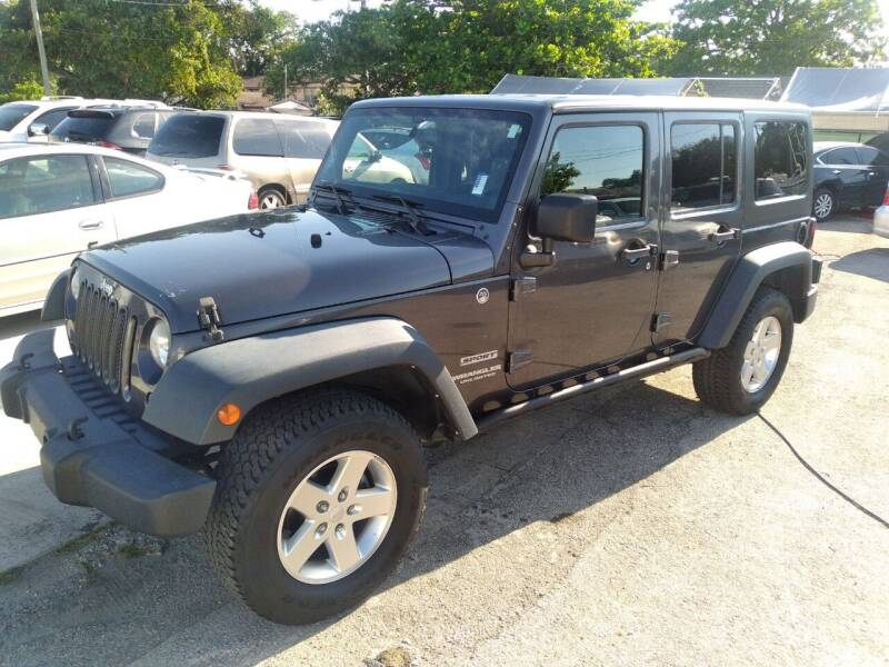 2014 Jeep Wrangler Unlimited for sale at P S AUTO ENTERPRISES INC in Miramar FL