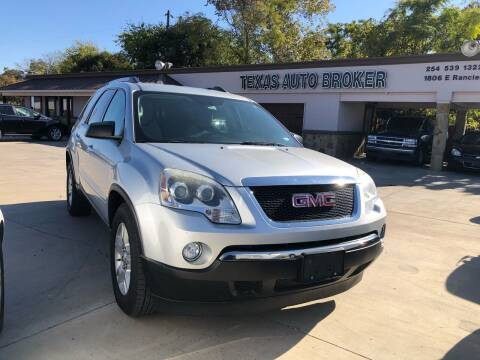 2012 GMC Acadia for sale at Texas Auto Broker in Killeen TX