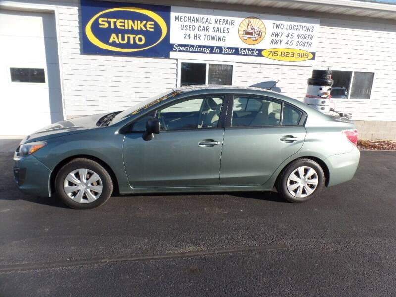 2014 Subaru Impreza for sale at STEINKE AUTO INC. - Steinke Auto Inc (South) in Clintonville WI