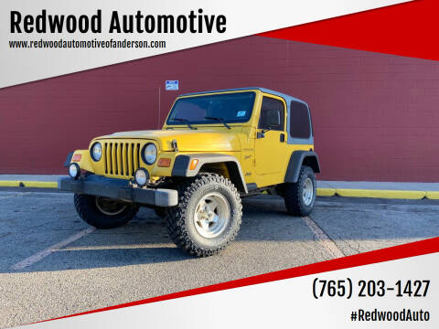 2002 Jeep Wrangler for sale at Redwood Automotive in Anderson IN