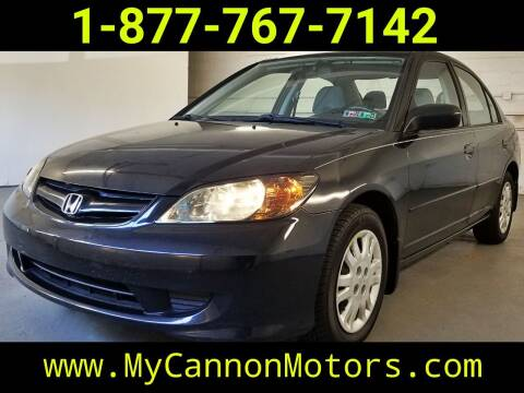 2005 Honda Civic for sale at Cannon Motors in Silverdale PA