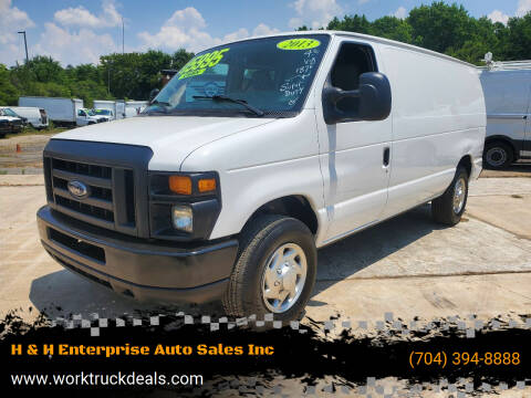 2013 Ford E-Series Cargo for sale at H & H Enterprise Auto Sales Inc in Charlotte NC